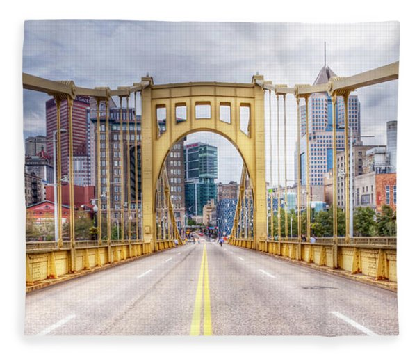 0305  Pittsburgh 10 Fleece Blanket
