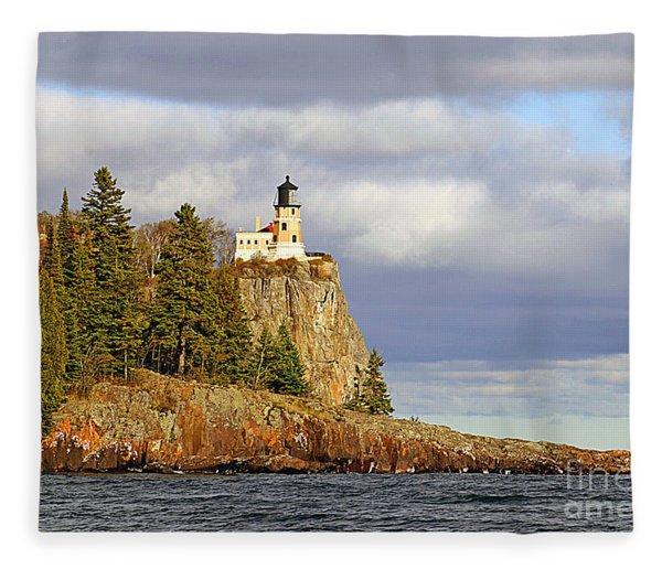 0376 Split Rock Lighthouse Fleece Blanket