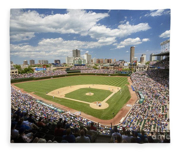 0415 Wrigley Field Chicago Fleece Blanket