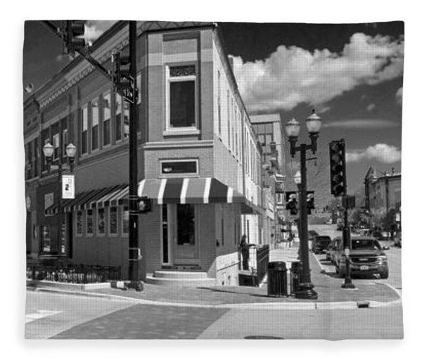0465 Elgin Illinois Panoramic Fleece Blanket