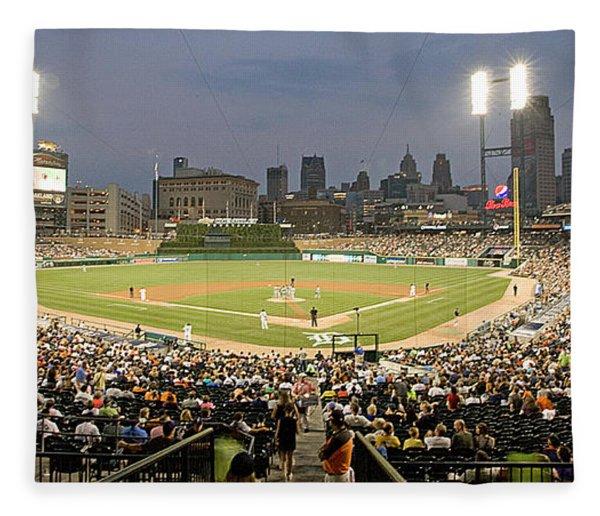 0555 Comerica Park Detroit Fleece Blanket