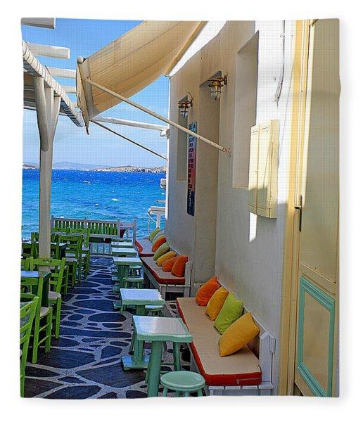 0560 Mykonos Greece Fleece Blanket