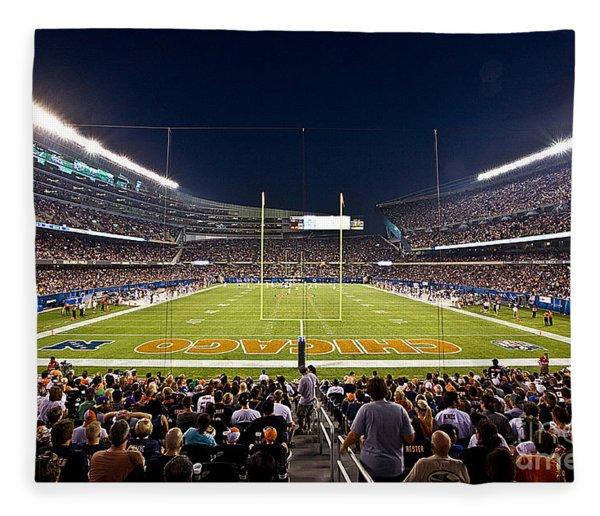 0588 Soldier Field Chicago Fleece Blanket