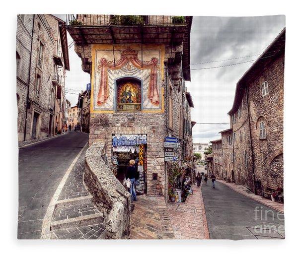 0801 Assisi Italy Fleece Blanket