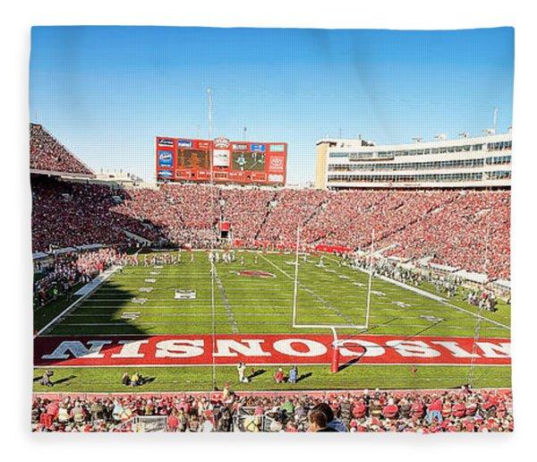 0812 Camp Randall Stadium Panorama Fleece Blanket