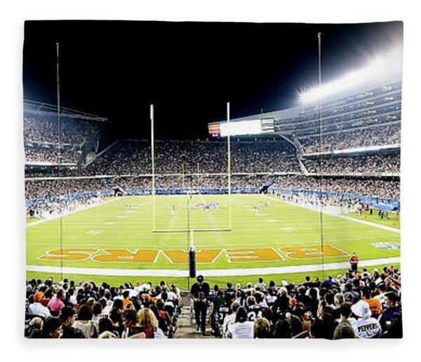 0856 Soldier Field Panoramic Fleece Blanket