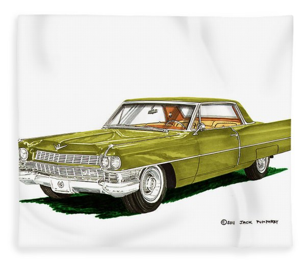 1964 Cadillac Coupe Deville Fleece Blanket