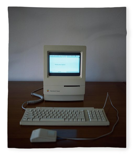 Apple Macintosh Classic Desktop Pc Fleece Blanket