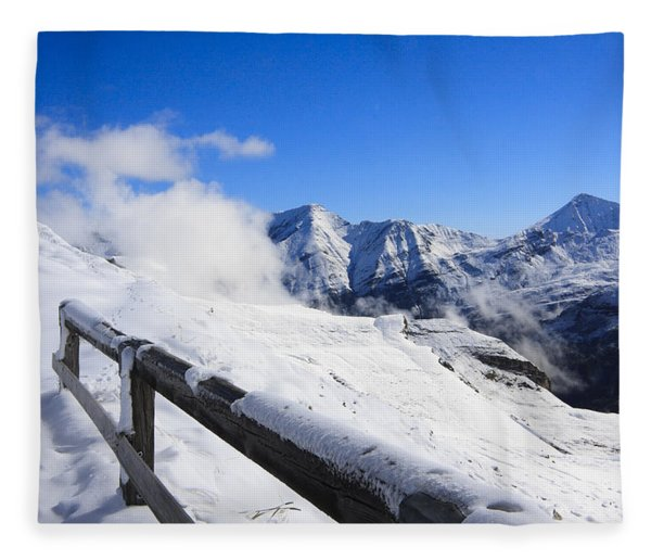 Austrian Mountains Fleece Blanket