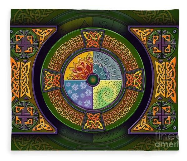 Celtic Elements Fleece Blanket