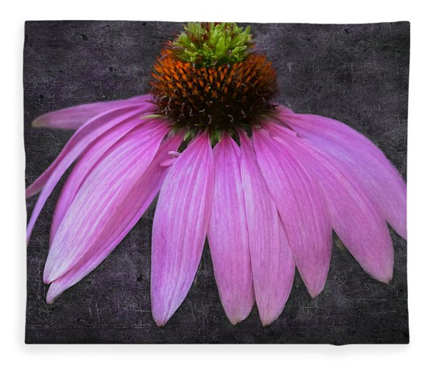 Fleece Blanket featuring the photograph Cone Flower by Garvin Hunter