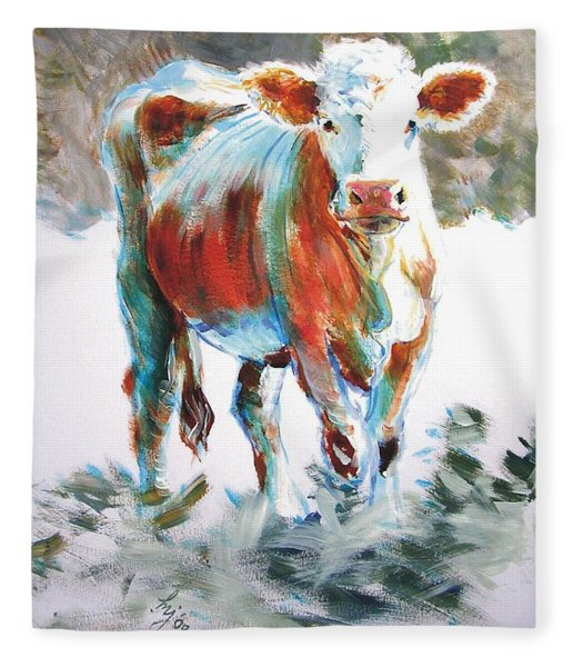Cow Fleece Blanket