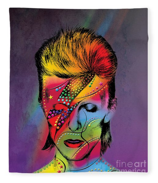 David Bowie Fleece Blanket