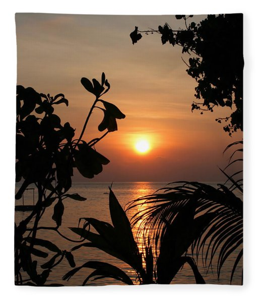 Evening Sun Fleece Blanket