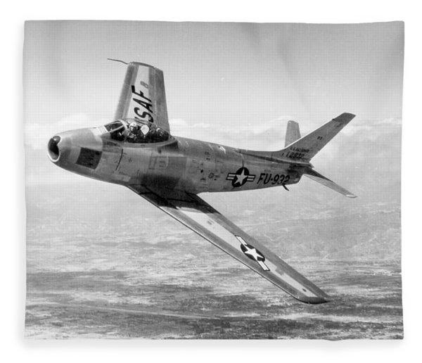 F-86 Sabre, First Swept-wing Fighter Fleece Blanket