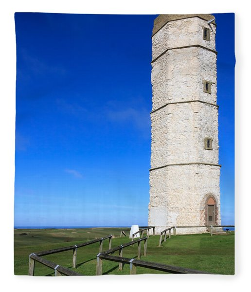 Flamborough Old Lighthouse Fleece Blanket