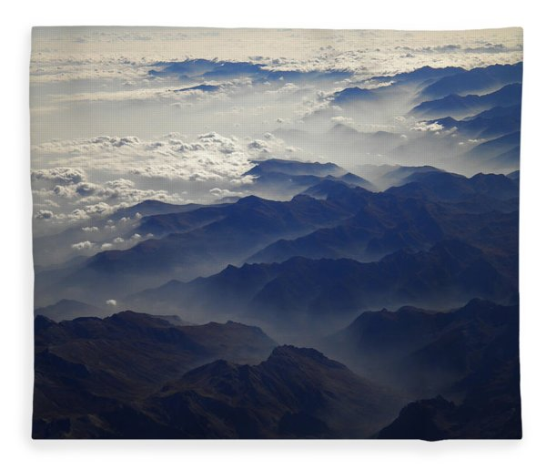 Fleece Blanket featuring the photograph Flying Over The Alps In Europe by Colette V Hera  Guggenheim
