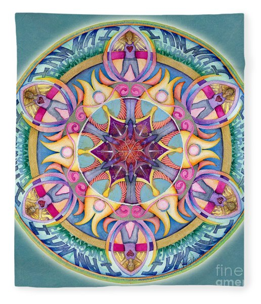 I Am Enough Mandala Fleece Blanket
