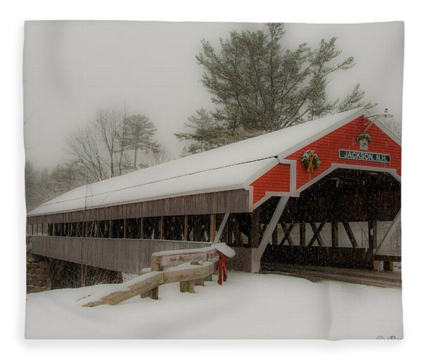 Jackson Nh Covered Bridge Fleece Blanket