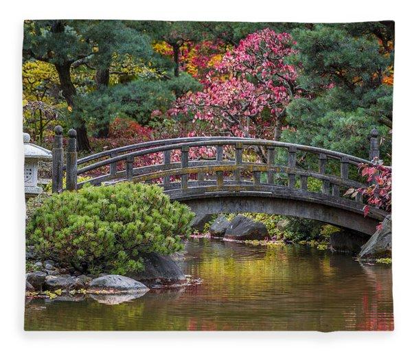 Japanese Bridge Fleece Blanket