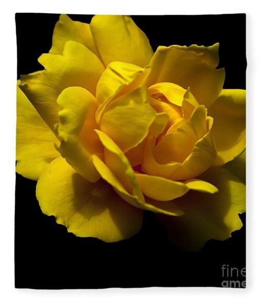 Lemon Rose Fleece Blanket