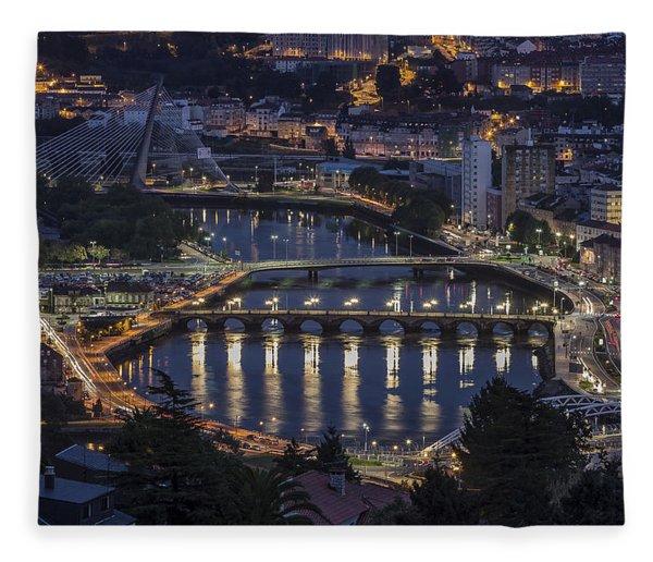 Lerez River Pontevedra Galicia Spain Fleece Blanket