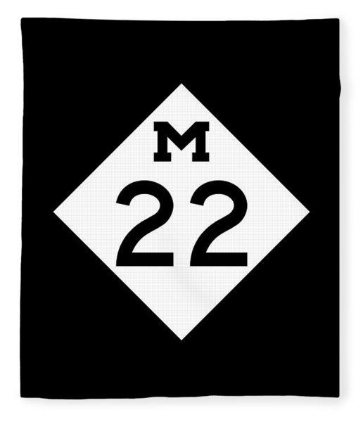 M 22 Fleece Blanket