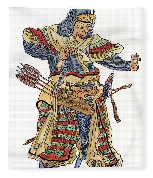 Mongol General Fleece Blanket