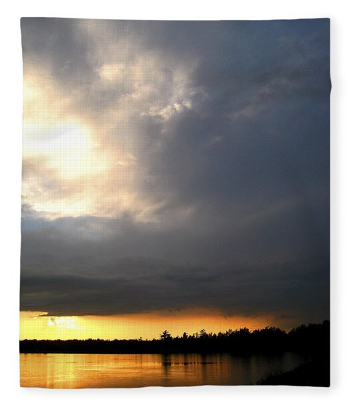 Mountain Lake Sunset Pocono Region Pennsylvania  Fleece Blanket