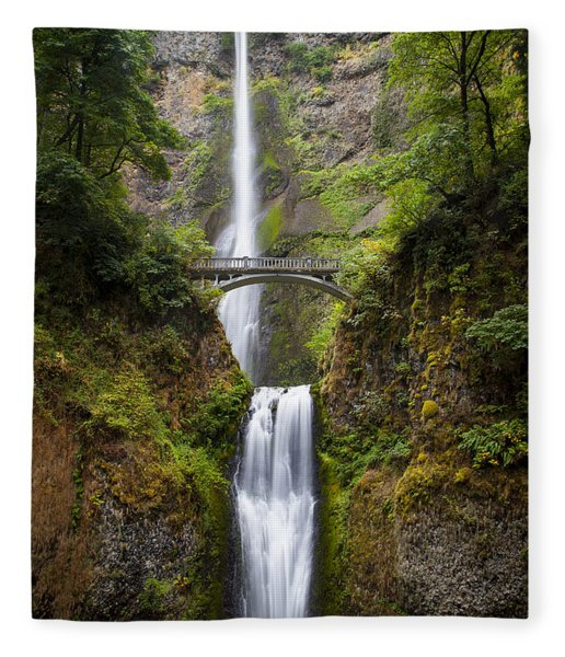 Fleece Blanket featuring the photograph Multnomah Falls by Brian Jannsen