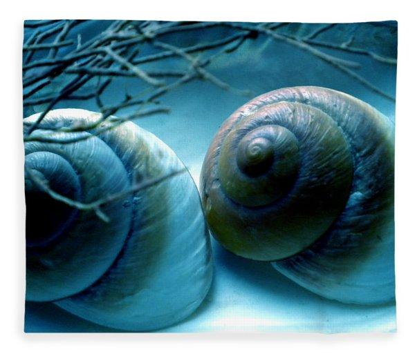 Fleece Blanket featuring the photograph Snail Joy  by Colette V Hera  Guggenheim