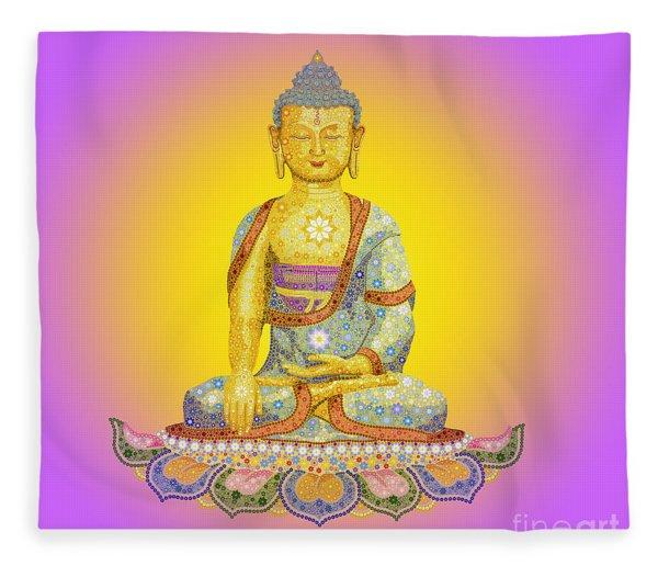 Sun Buddha Fleece Blanket
