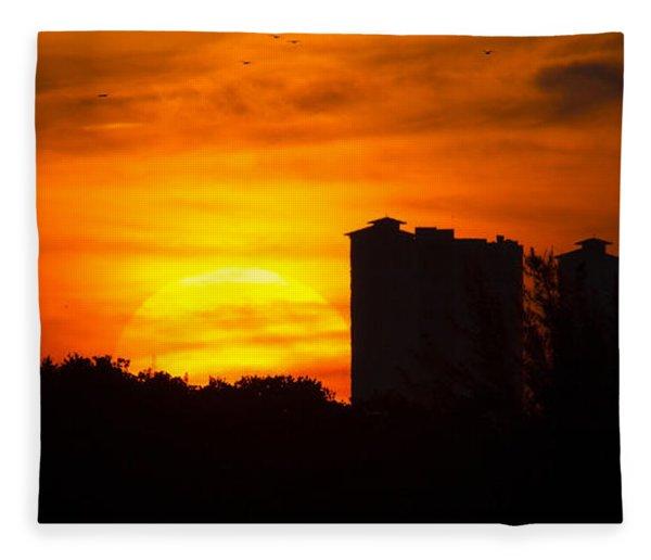 Sunrise  Fleece Blanket