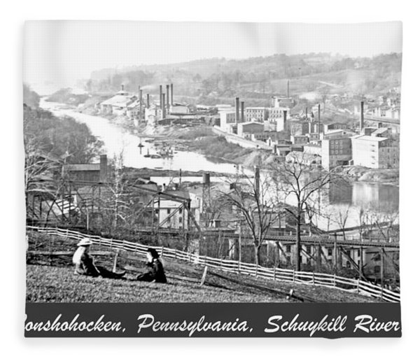 View Of Conshohocken Pennsylvania C 1900 Fleece Blanket