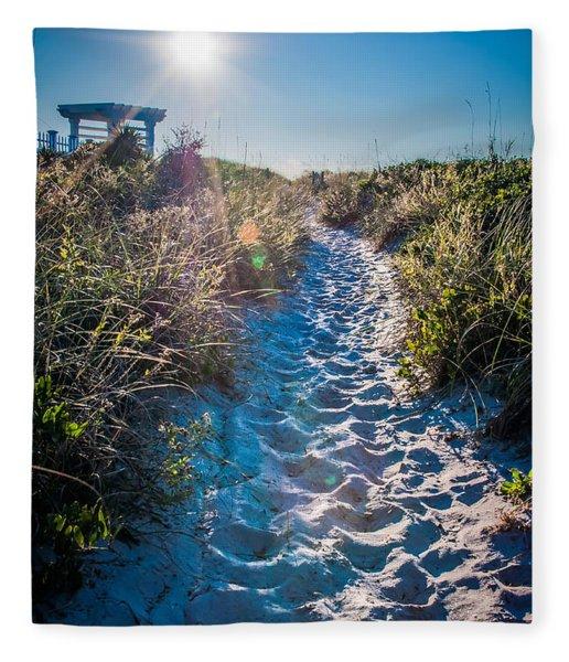 Fleece Blanket featuring the photograph Wilmington Coastal Scene Wilmington North Carolina by Alex Grichenko