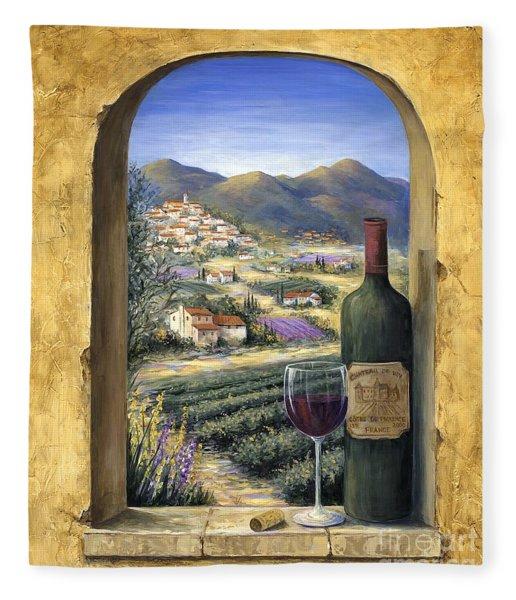 Wine And Lavender Fleece Blanket