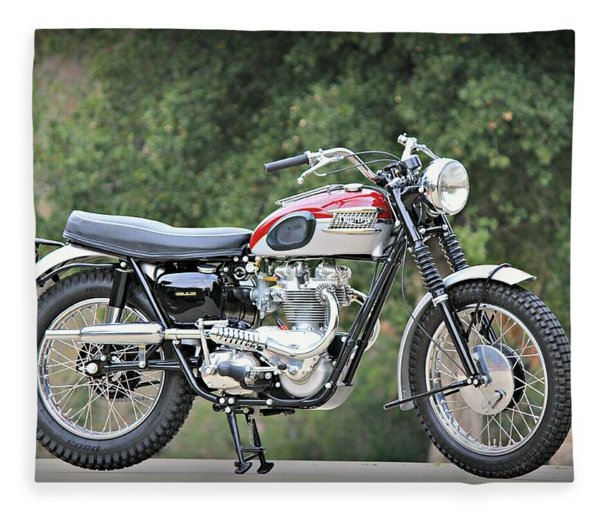 1961 Triumph Tr6c Fleece Blanket