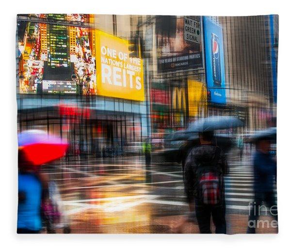 A Rainy Day In New York Fleece Blanket