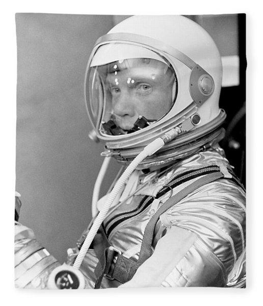 Astronaut John Glenn - Mercury Atlas 6 Fleece Blanket