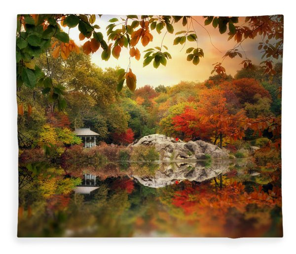 Autumn At Hernshead Fleece Blanket