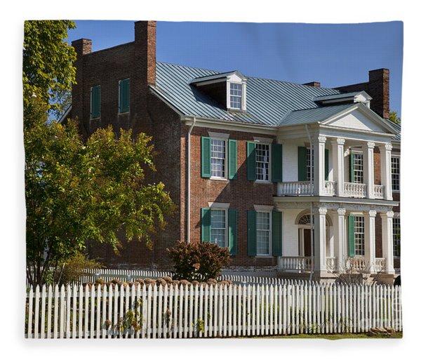 Fleece Blanket featuring the photograph Carnton Plantation by Brian Jannsen