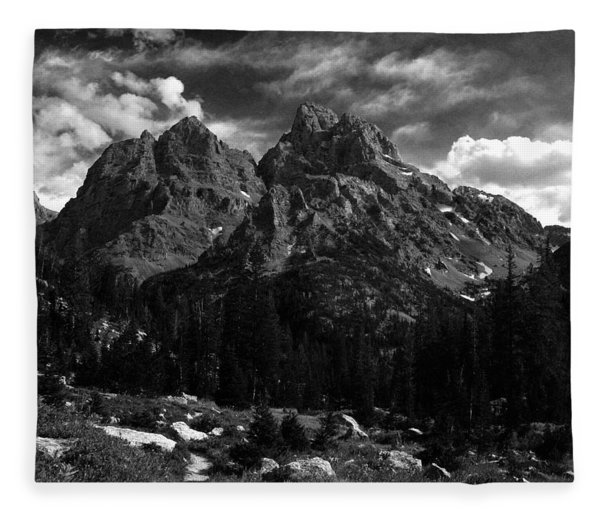 Fleece Blanket featuring the photograph Cathedral Group From The Northwest by Raymond Salani III