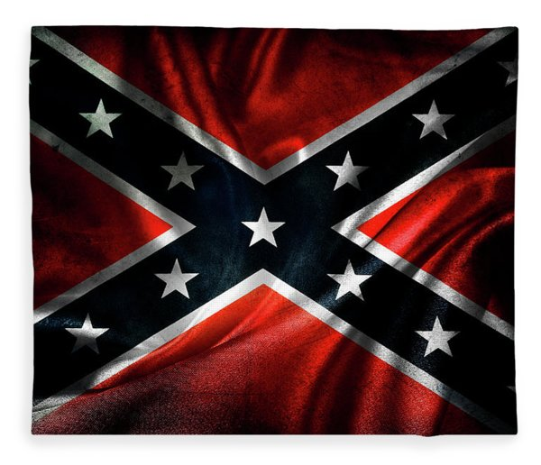 Confederate Flag 1 Fleece Blanket