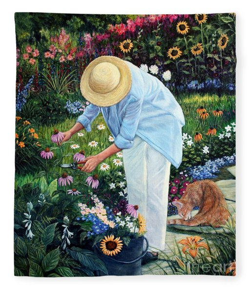 Gardener's Eden Fleece Blanket