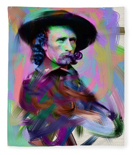 George Armstrong Custer Fleece Blanket