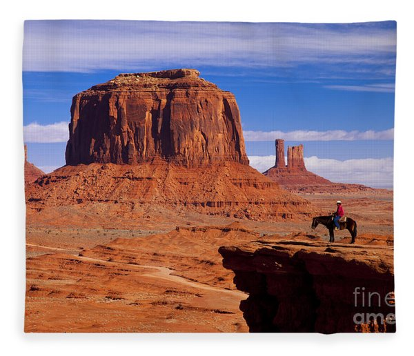Fleece Blanket featuring the photograph John Ford Point Monument Valley by Brian Jannsen
