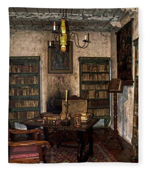 Junipero Serra Library In Carmel Mission Fleece Blanket