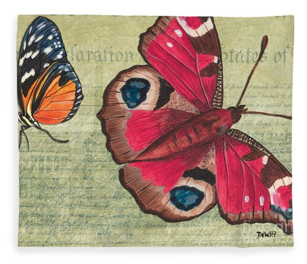 Le Papillon 1 Fleece Blanket