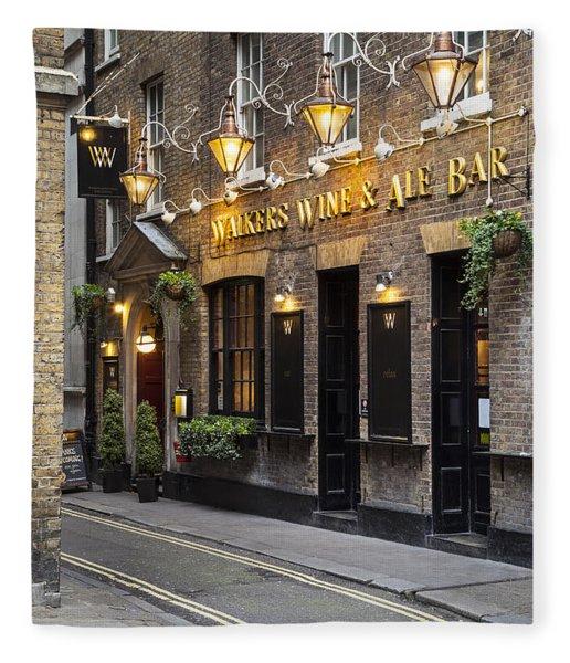Fleece Blanket featuring the photograph London Pub by Brian Jannsen