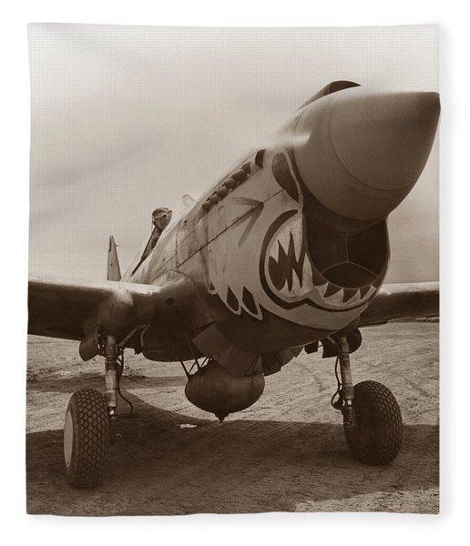 P-40 Warhawk Fleece Blanket
